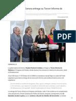 13-10-2018 - Gobernadora de Sonora Entrega Su Tercer Informe de Gobierno - Excelsior