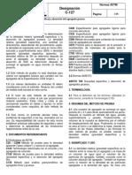 ASTM C-127 Densidad y Absorción Del Agregado Grueso