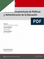 Revista Latinoamericana de Política y Administración de la Educación #007