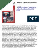 Manual de Evaluacion y Disec3b1o de Explotaciones Mineras