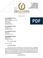 Notice of Claims Letter - Mayor Ryshonda Beechem v. Margie Warren, Et Al.