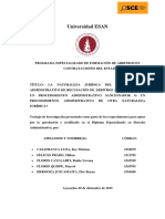 La Naturaleza Jurídica Del Procedimiento Administrativo de Recusación de Árbitros Ante El Osce