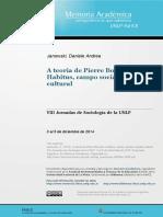 A Teoria de Pierre Bourdieu Habitus Campo Social Capital Cultural