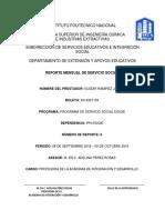 Sexto Reporte-Servicio Social