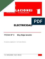 Eléctricas Ficha 3 Muy Baja Tensión