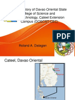 DOSCST Cateel Campus History