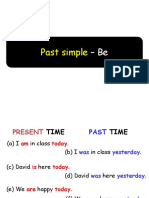 PAST OF VERB BE