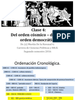 Clase 2 Del Orden Cósmico Divino Al Orden Democrático 2016