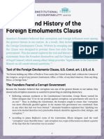 The Text History of the Foreign Emoluments Clause