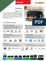 Pixma Home - Mg3660 Bk Tech Sheet