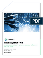 Enderecamento Ip Calculo Sub Rede
