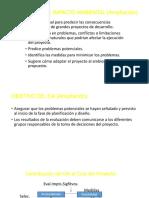Evaluación de Impacto Ambiental (Ampliación)