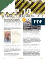 Top ten Construction Hazards
