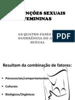 DINFUNÇÕES SEXUAIS FEMININAS