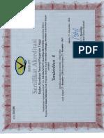 Sertifikat Akreditasi D3 SI102 (2016-2021)