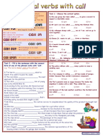 Phrasal Verbs With Call With Dictionary 2 Tasks Wi 10393