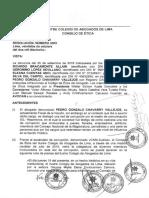 CAL admite denuncia contra fiscal de la Nación Gonzalo Chávarry