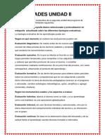 ACTIVIDADES UNIDAD II Evaluacion de Los Aprendizaje