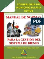 Manual de Bienes Públicos de la Contraloría del municipio Eulalia Buroz