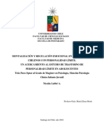 Mentalización y Regulación Emocional en Adolescentes Chilenos Con Personalidad Límite