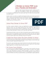 Libros Para Olvidar Un Amor PDF