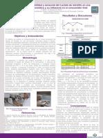 Poster Estudios de Estabilidad y Sensorial Del Lactato de Miristilo en Formulación Cosmética y Su Influencia Consumidor Final