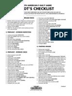 F-86E&F Pilot's Checklist