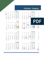 2018 Calendar Dongeng Geologi