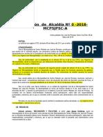 Resolución de Alcaldia Felicitacion Juan Apaza