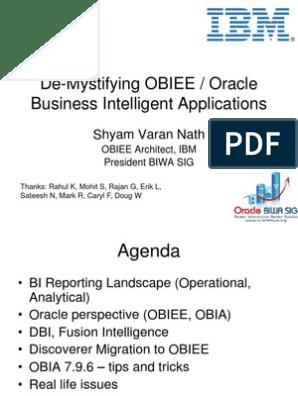 De-Mystifying OBIEE Oracle BI App   Oracle Database   Metadata