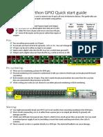 RPi GPIO Python Quickstart Guideaa