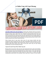 Agen Poker Online Uang Asli Cepat Menang | Dewapoker99