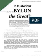Babylon the Great Nwo