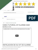 Configuracion Kit Alarma Gsm g18 - Mercadolider Importaciones
