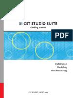 Cst Studio Suite - Getting Started