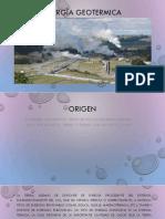 ENERGÌA GEOTERMICA