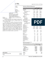 Summary of Financial Report