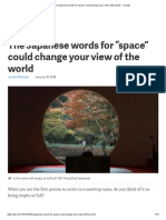 The Japanese Words for _space_ Could Change Your View of the World — Quartz