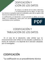 Codificación y Tabulación de Los Datos