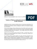 389. Taxation of Filipinos Employed by International Groups, Foreign Embassies ARV 4.18.13 (1)