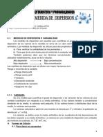 Medidas de Dispersion o Variabilidad