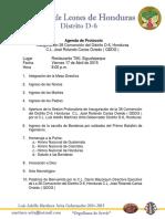 Agenda Inauguracion Protocolaria 38 Convencion Abril 2015.docx