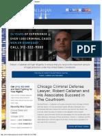 Criminal Defense Lawyer in Chicago IL - Robert J Callahan