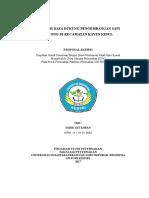 Analisis Daya Dukung Pengembangan Sapi Potong Di Kecamatan Kayen Kidul