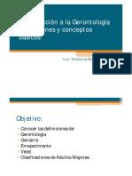 1.2 Conceptos Básicos Gerontología GeriatrÍa