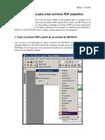 Guía rápida para crear archivos PDF pequeños