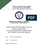 Aplicacion Software Para La Simulacion Del Funcionamiento Energetico de Vehiculos Electricos