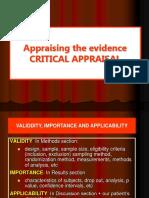 5. Critical Appraisal
