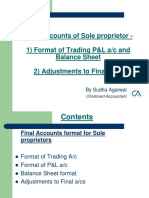 Ppt 2 Final Accounts_sole Proprietor_format_Adjustments