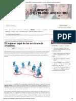 El Régimen Legal de Las Acciones de Inversión — La Ley - El Ángulo Legal de La Noticia